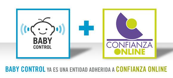 Logotipo de Baby Control junto al logotipo de Confianza Online