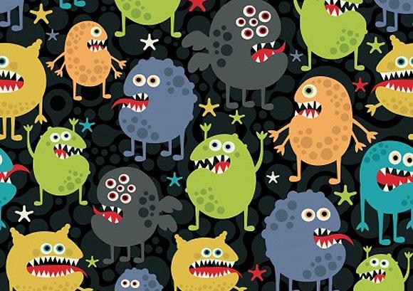 Una ilustración con diferentes tipos de virus infecciosos