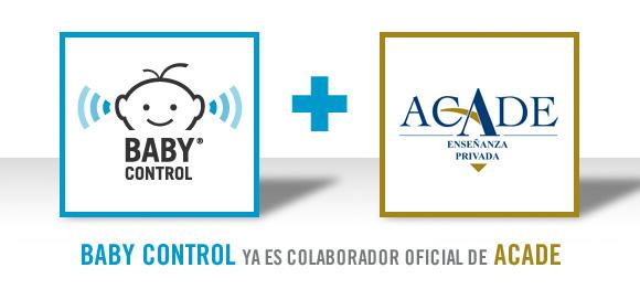Logotipo de Baby Control y de ACADE