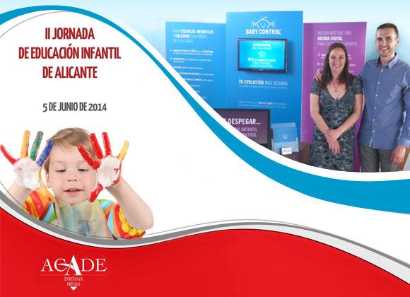 Stand de Baby Control en la II Jornada de Educación organizada por Acade en Alicante