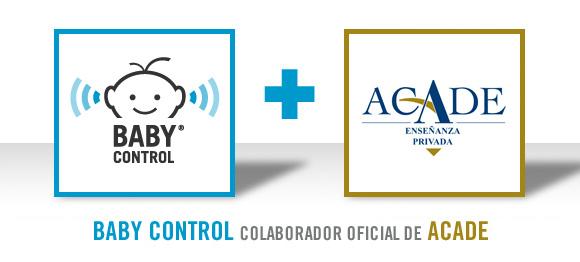 Logotipo de Baby Control y logotipo de Acade
