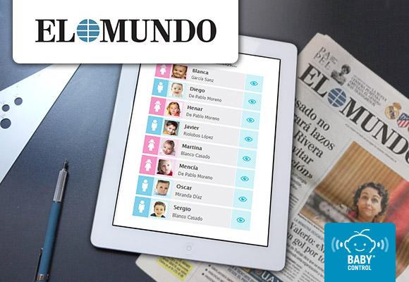 Tablet son agenda digital Baby Control y el periódico El Mundo